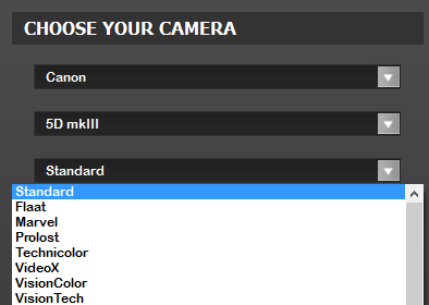 filmconvert camera profiles